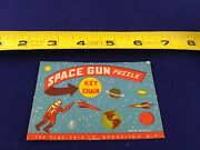 Vintage Cardback Only 1950's Space Gun Puzzle Keychain Fob Key Ring D-2