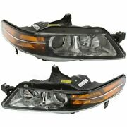 Headlight Set For 2004-2005 Acura Tl Usa Built Left And Right Hid 2pc