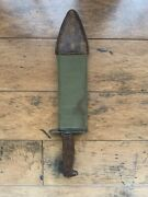 Wwi Us Army M1910 Bolo Knife W/thumb Latch And Canvas Scabbard - Sa 1912 - Rare 2