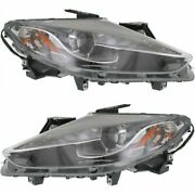 Headlight Set For 2013 2014 2015 Mazda Cx-9 Left And Right Hid 2pc