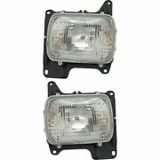 Halogen Headlight Set For 1986-1994 Nissan D21 Left And Right W/ Bulbs Pair