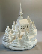 Ceramic Bisque Winter Church Scene Ready To Paint