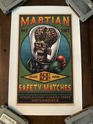 Chet Phillips Print The Martian Signed Numbered /25 Mars Attacks Gallery 1988