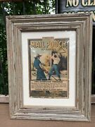 Vintage Mail Pouch Snuff Tobacco Cardboard Two Manpower Threshing Sign