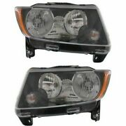 Headlight Set For 2013-2017 Jeep Compass Left And Right With Bulb 2pc