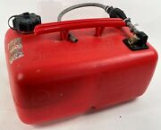 Quicksilver Red Plastic 18 Nautical Boat 25 Liter Gas Tank Cannister W/ Pump