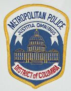Mpdc Metropolitan Police Department Of The District Of Columbia Used Patch 3