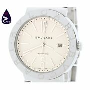 Bvlgari Menand039s Automatic Ss Date Ivory Dial Bb42ss Auto 42mm