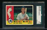 1960 Topps 350 Mickey Mantle Sgc 6 Almost Dead Centered High End Swsw6