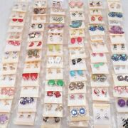 Womenand039s Fashion 30pairs/lots Crystal Stud Jewelry Earrings Mix Style Wholesale