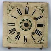 Antique Bishop And Bradley Pillar And Scroll Woodworks Wooden Dial Clock Face