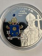 American Mint Pope Francis Papal Coat Of Arms - Silver Plated Coin