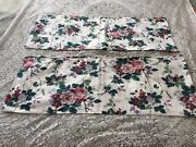 Pair Waverly Pleasant Valley Window Valances Approx 78 X 15 Rose Grapes Floral