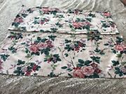 2 Pair Waverly Pleasant Valley Valances Approx 78 X 15 Rose Grapes Floral
