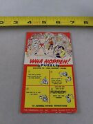 Vintage 1950's Cardback Only Wha Hoppen Puzzle Wrestling Keychain Key Ring D2