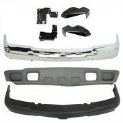 Front Bumper Cover Chrome Steel Kit Fits 2003-2007 Chevy Silverado 2500hd 3500