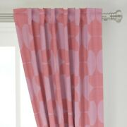Coral Pink Lipstick Red Magenta Lavender 50 Wide Curtain Panel By Roostery