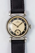 Omega Small Second Bullseye Dial Manual Winding Vintage Watch 1935and039s Overhauled