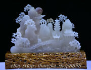 21 Rare Chinese 100 Natural White Jade Jadeite Carved Old Man Mountain Statue