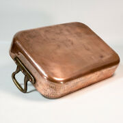 Vintage Williams Sonoma France French 16 Heavy Copper Roasting Pan 12 Lbs