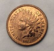 1872 Indian Head Cent Penny - Super Key Date With Full Liberty
