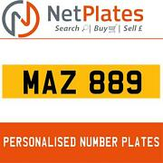 Maz 889 Mary Private Car Number Plate On Retentions By Netplates.co.uk