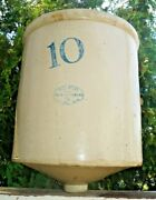 Antique 1910s Red Wing Pottery Stoneware 10 Gal Drain Crock - Jug Churn Unusual