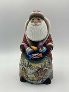 9 Wooden Russian Carved Santa Father Frost, Ded Moroz Christmas Decoration