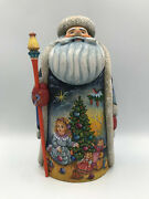 11.4 Wooden Russian Carved Santa Father Frost, Ded Moroz Hand Carved