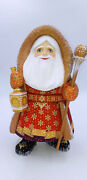 11.8 Wooden Carved Santa Claus Father Frost Ded Moroz Christmas Decoration
