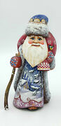 8.2 Great Wooden Russian Carved Santa Father Frost Ded Moroz