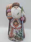 11 Wooden Carved Santa Father Frost Ded Moroz Hand Carved Painted