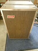 Vtg Coleman Cooler Upright Ice Chest Box Usa Camping Outdoor With Interior Parts