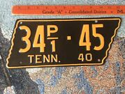 1940 Tennessee State Shaped Truck License Pl Low Iss 34p1-45 Putnam Co Repaint