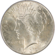 1922 Peace Liberty Head Silver Dollar - Graded Ms-64 By Icg. Vam-2-f Top 50