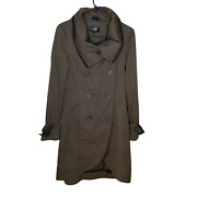 Mackage Womenand039s Macrame Rain Coat Jacket Size Small Petite Taupe Brown Flaw