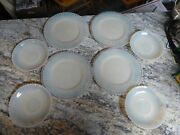 Vintage Translucent Fluted Milk Glass Plates 4 Six Inch And 4 Eight Inch Great