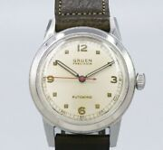 Gruen Arabic Index Original Dial Cal.460ss Automatic Vintage Watch 1950and039s