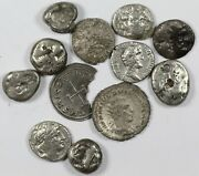 Lot Of 12 Assorted Low Grade / Damaged Ancient Silver Coins