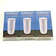 Pureplus Water Pitcher Filter Model Zero Big Zb-001 - Pack Of 3 Sealed New