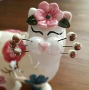 Amy Lacombe Whimsiclay Standing Cat - Justine And Honey Bee | 2003 New In Box