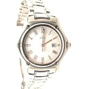 1911 Ebel Stainless Steel 35mm White Face Roman Numeral Watch - Wrist Size 8