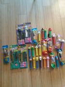 Lot Of 28 Pez Dispensers Star Wars, Batman, Peanuts, Luney Tunes And More