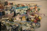 Lot Of 100's Of Spools Of Sewing Thread, Zippers And Other Misc. Sewing Material