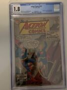 Action Comics 252 Dc Origin And 1st Appearance Supergirl + Metallo Cgc 1.8 Blue