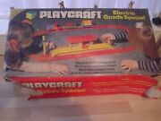 Playcraft Play Craft Electric Goods Wagons Train Railway Toy Boxed Set Vintage