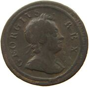 Great Britain Farthing 1717 George I. Very Rare T149 265