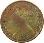Great Britain Penny 1864 Crossler 4 Yellow Red Collor Very Rare T149 015