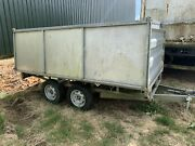 10andrsquo Foot Indespension Twin Axle Trailer Aluminium High Sides And Top Roof Cover