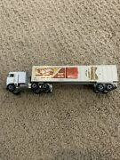 Hot Wheels Racing Team Kenworth Semi/tractor Trailer White Used 80andrsquos Vintage
